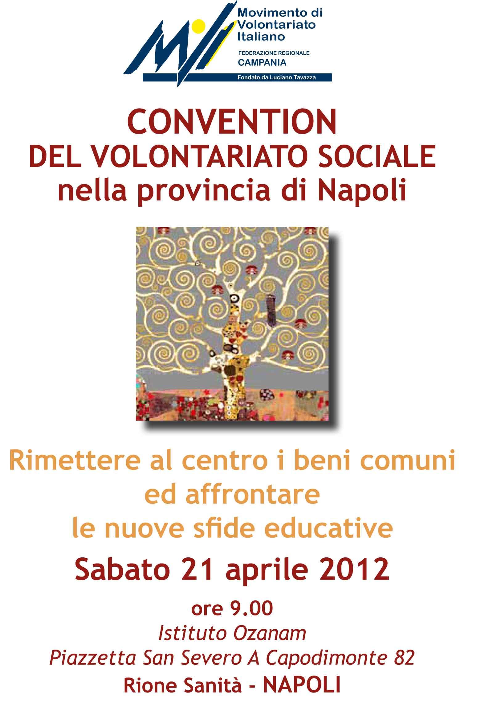 Convention del volontariato sociale nella provincia di Napoli
