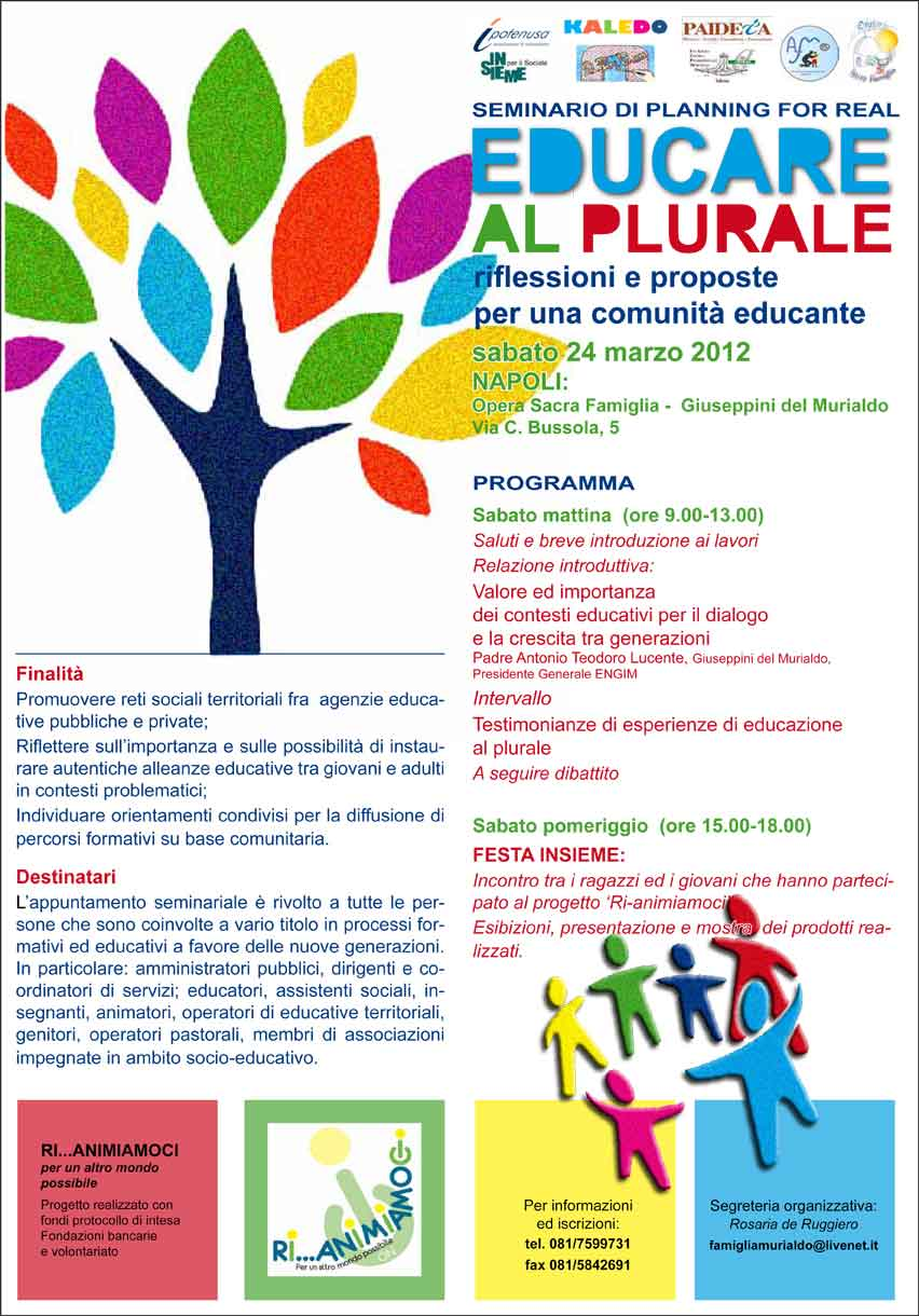 Educare al Plurale: seminario di planning for real