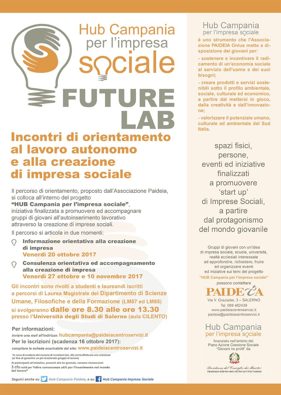 All'Università degli Studi di Salerno nuovo ciclo di appuntamenti con Hub Campania per l'impresa sociale 2