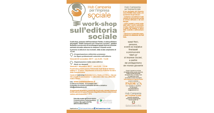 All'Università degli Studi di Salerno un Work-shop sull'editoria social 4