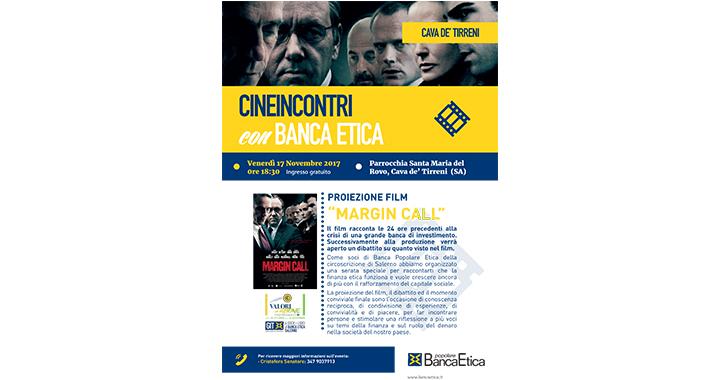 Cineincontri con Banca Etica, nuovo appuntamento a Cava de' Tirreni