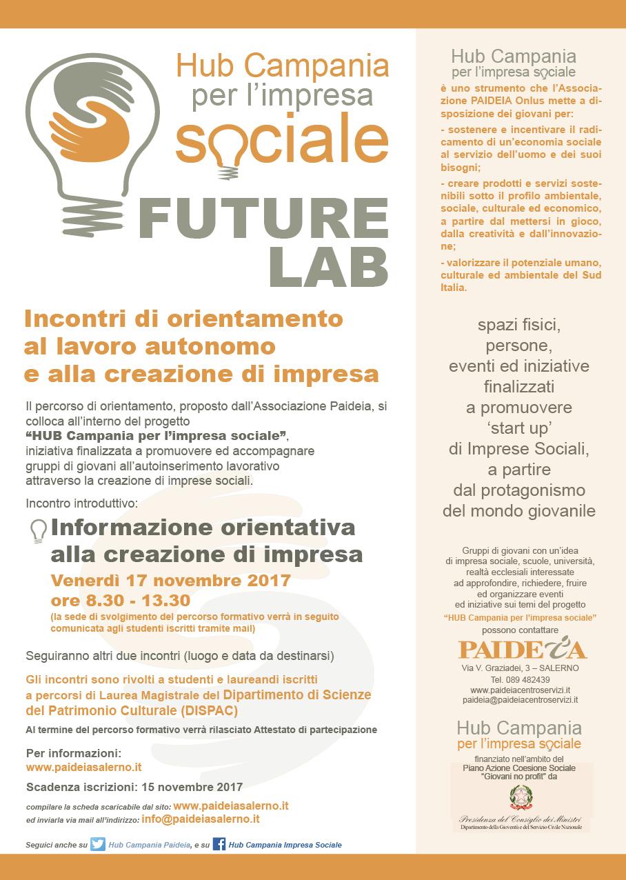 """Unisa: Percorsi d'orientamento """"HUB Campania per l'impresa sociale"""" presso DISPAC 2"""