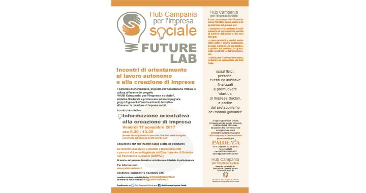 """Unisa: Percorsi d'orientamento """"HUB Campania per l'impresa sociale"""" presso DISPAC 3"""
