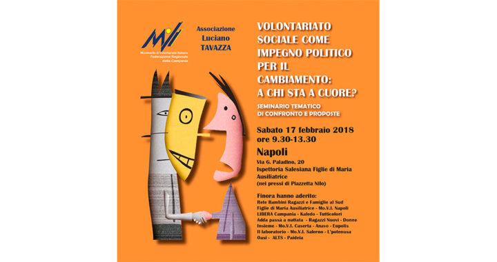 Seminario su volontariato sociale e riforma del terzo settore
