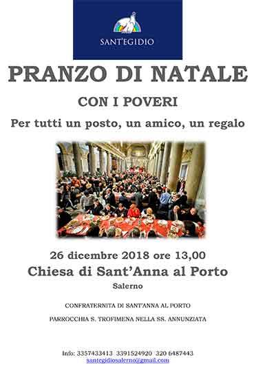A Natale solidarietà con i poveri a Salerno 1