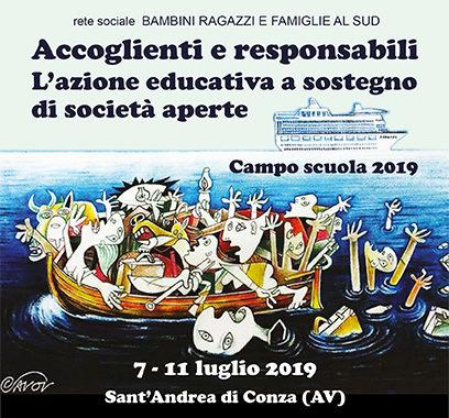 Accoglienti e responsabili L'azione educativa a sostegno di società aperte - Campo scuola 2019